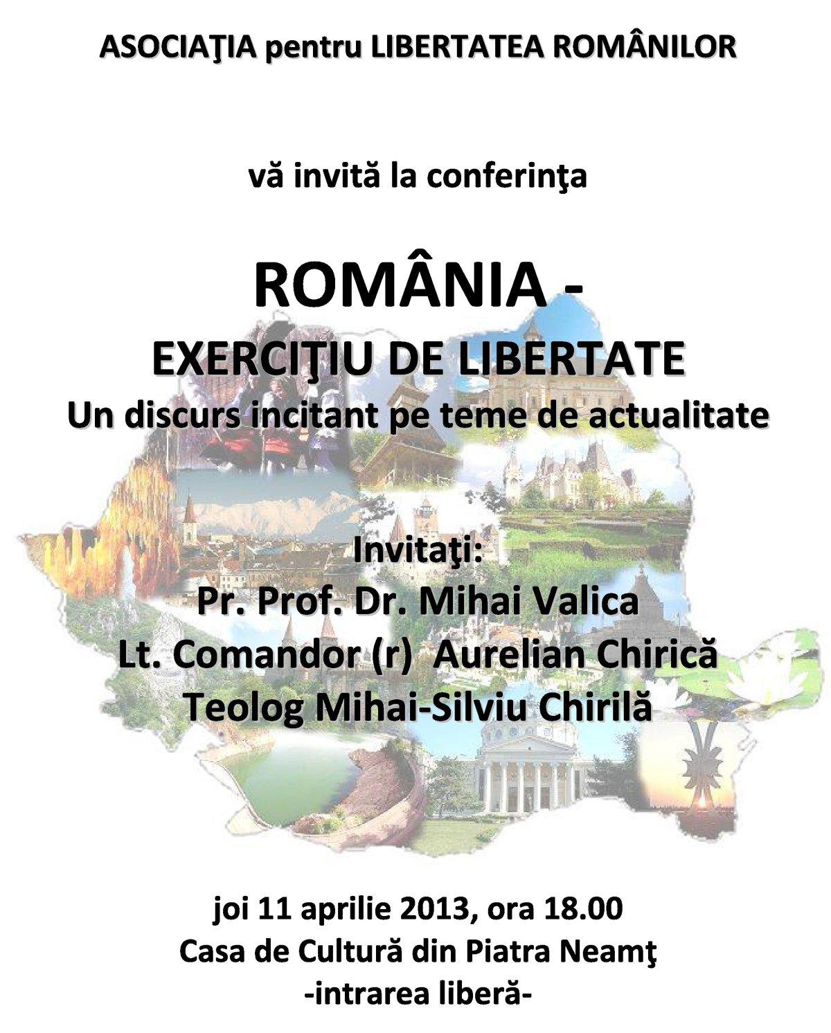Afis conferinta Piatra M Valica