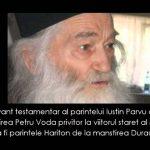 Părintele Justin Pârvu a hotărât ca următorul stareţ al Mănăstirii Petru Vodă să fie ieromonahul Hariton Negrea de la Mănăstirea Durău