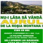 Protest de amploare la Cotroceni impotriva demararii exploatarii miniere de la Rosia Montana, sambata 10 septembrie
