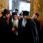 Staretul manastirii Sf. Sava, gheronta Evdochim, in vizita la Parintele Justin Parvu