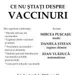 CONFERINTA CU INVITATI DE EXCEPTIE: Ce nu stiati despre vaccinuri. Matematicianul IOAN VLADUCA, medicul MIRCEA PUSCASU, inginer chimist DANIELA STEFAN. Constanta, joi, 3 octombrie 2013, ora 18