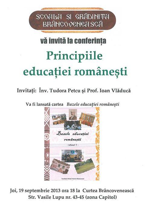 conferinta Constanta_principiile educatiei romanesti