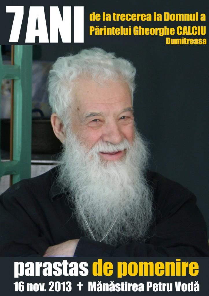 parastas 7 ani Parintele Gheorghe Calciu