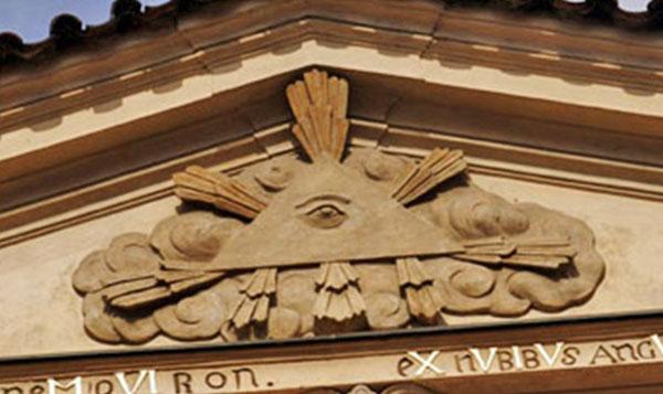 left eye masonic catholic church