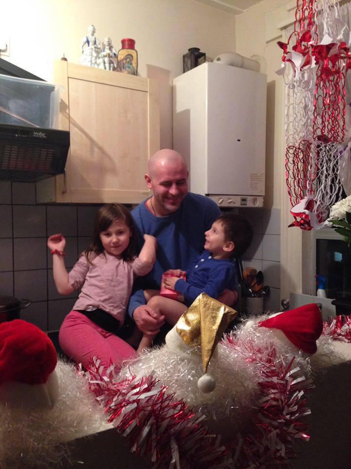 Florin Barbu si copii sai